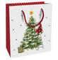Geschenktasche X-mas Eve, 18x21x8 cm, glänzend-Thumbnail