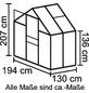 VITAVIA Gewächshaus »Apollo«, B x L x H: 195  x 136,6  x 207,4  cm, Polycarbonat (PC)/Aluminium-Thumbnail