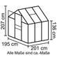 VITAVIA Gewächshaus »Apollo«, B x L x H: 195  x 198,8  x 207,4  cm, Polycarbonat (PC)/Aluminium-Thumbnail