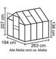 VITAVIA Gewächshaus »Apollo«, B x L x H: 195  x 261  x 207,4  cm, Polycarbonat (PC)/Aluminium-Thumbnail