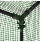 MR. GARDENER Gewächshaus, B x L x H: 195  x 60  x 202-220  cm, Stahl/Polyethylen (PE)-Thumbnail