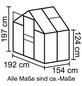 VITAVIA Gewächshaus »Calypso 3000«, B x L x H: 195  x 158  x 197  cm-Thumbnail