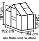 VITAVIA Gewächshaus »Calypso 3000«, B x L x H: 195  x 158  x 197  cm, Aluminium/Polycarbonat (PC)-Thumbnail