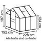 VITAVIA Gewächshaus »Calypso 4400«, B x L x H: 195  x 232  x 197  cm-Thumbnail