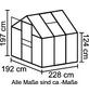 VITAVIA Gewächshaus »Calypso 4400«, BxLxH: 195 x 232 x 197 cm-Thumbnail
