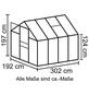 VITAVIA Gewächshaus »Calypso 5800«, B x L x H: 195  x 306  x 197  cm, Aluminium/Polycarbonat (PC)-Thumbnail