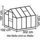 VITAVIA Gewächshaus »Calypso«, B x L x H: 195  x 306  x 197  cm, Aluminium/Polycarbonat (PC)-Thumbnail