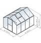 KGT Gewächshaus »Flora«, 6,84 m², Kunststoff/Aluminium, winterfest-Thumbnail