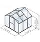 KGT Gewächshaus »Flora«, B x L x H: 227  x 227  x 204  cm, Aluminium/Polycarbonat (PC)-Thumbnail