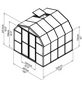 RION Gewächshaus »Prestige«, B x T x H: 267 x 264 x 238 cm-Thumbnail