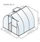 KGT Gewächshaus »Rhodo«, B x L x H: 227  x 227  x 204  cm, Aluminium/Polycarbonat (PC)-Thumbnail