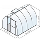 KGT Gewächshaus »Rhodo«, B x L x H: 227  x 301  x 204  cm, Aluminium/Polycarbonat (PC)-Thumbnail