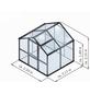 KGT Gewächshaus »Rose«, B x L x H: 233  x 217  x 215  cm-Thumbnail