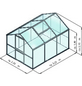 KGT Gewächshaus »Rose«, B x L x H: 233  x 323  x 215  cm-Thumbnail
