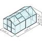 KGT Gewächshaus »Rose«, B x L x H: 233  x 429  x 215  cm, Aluminium/Polycarbonat (PC)-Thumbnail