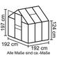 VITAVIA Gewächshaus »Venus«, B x L x H: 195  x 195  x 197  cm, Aluminium/Polycarbonat (PC)-Thumbnail