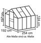 VITAVIA Gewächshaus »Venus«, B x L x H: 195  x 257  x 197  cm, Aluminium/Polycarbonat (PC)-Thumbnail
