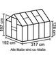 VITAVIA Gewächshaus »Venus«, B x L x H: 195  x 321  x 197  cm, Aluminium/Polycarbonat (PC)-Thumbnail