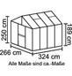 VITAVIA Gewächshaus »Zeus«, B x L x H: 258,4  x 316,4  x 250,4  cm-Thumbnail