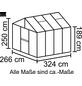 VITAVIA Gewächshaus »Zeus«, BxLxH: 258,4 x 316,4 x 250,4 cm-Thumbnail