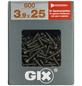 SPAX Gipsfaserschraube, GIX C, PH2, Stahl, 600 Stück, 3.9 x 25 mm-Thumbnail