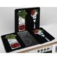 WENKO Glasabdeckplatte »Caprese«, BxHxT: 3 x 1,8 x 52 cm, Glas/Thermoplaste, mehrfarbig-Thumbnail