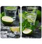 WENKO Glasabdeckplatte »Mojito«, BxHxT: 3 x 1,8 x 52 cm, Glas/Thermoplaste, mehrfarbig-Thumbnail