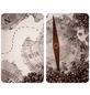 WENKO Glasabdeckplatte »Universal Kompass«, BxHxT: 3 x 1,8 x 52 cm, Glas/Thermoplaste, mehrfarbig-Thumbnail