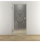 NOVADOORS Glasdrehtür »NOVA 628«, (BxH): 95,9 x : 197,2 cm-Thumbnail