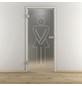 NOVADOORS Glasdrehtür »NOVA 628«, mattiert, Höhe: 197,2  cm-Thumbnail