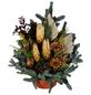 Grabschale, Tanne, Ø 15 cm, garniert, natur-Thumbnail