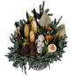 Grabschale, Tanne, Ø 20 cm, garniert, natur-Thumbnail