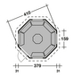 WOLFF Grillkota, B x T x H: 454  x 454  x 420  cm, Kiefernholz-Thumbnail