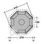 WOLFF Grillkota, B x T x H: 454  x 454  x 440  cm, Kiefernholz-Thumbnail