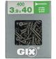SPAX Grobgewindeschraube, 3,9 mm, Stahl, 400 Stk., GIX B 3,9x40 XL-Thumbnail