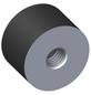 alfer® aluminium Gummipuffer, M8, Schwarz, Gummi-Thumbnail