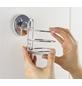 WENKO Haartrockner-Halter »Vacuum-loc Quadro«, Edelstahl, glänzend, silberfarben-Thumbnail