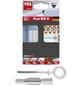 TOX Hakendübel, Polyethylen, 4 Stück, 8 x 51 mm-Thumbnail
