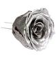 flowerbox Handgefertigte Christbaumschmuck-Rosen, Silber-Thumbnail