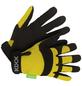 KIXX Handschuhe »Synthetik Leder«, gelb/schwarz-Thumbnail
