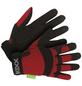 KIXX Handschuhe »Synthetik Leder«, schwarz/rot-Thumbnail
