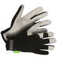 KIXX Handschuhe »Ziegenleder«, schwarz/hellgrau-Thumbnail