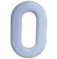 SÜDMETALL Hausnummer, 0, Weiß, Kunststoff, 15,7 x 22,7 x 1,8 cm-Thumbnail