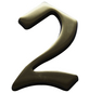 SÜDMETALL Hausnummer, 2, Braun, Messing, 11,7 x 17 x 1,8 cm-Thumbnail