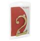 ANSAPRO Hausnummer, 2, Gold, Messing, 8 x 12 x 0,5 cm-Thumbnail