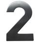 SÜDMETALL Hausnummer, 2, Silber, Edelstahl, 11,7 x 17 x 1,8 cm-Thumbnail