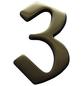 SÜDMETALL Hausnummer, 3, Braun, Messing, 11,7 x 17 x 1,8 cm-Thumbnail