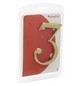 ANSAPRO Hausnummer, 3, Gold, Messing, 8 x 11,5 x 0,5 cm-Thumbnail