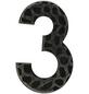 SÜDMETALL Hausnummer, 3, Schwarz, Eisen, 11,7 x 17 x 1,8 cm-Thumbnail