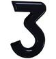 SÜDMETALL Hausnummer, 3, Schwarz, Kunststoff, 15,7 x 22,7 x 1,8 cm-Thumbnail